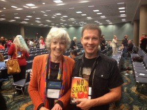 Sue Grafton and Simon at Bouchercon 2014. She wanted his autograph!