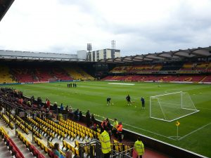 Simon's beloved Watford Football Club.