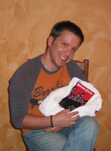 Simon at the birth of one his books.