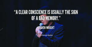 quote-Steven-Wright-a-clear-conscience-is-usually-the-sign-243484