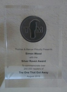 THE ONE THAT GOT AWAY picks up an award for crossing 250,000 copies sold.