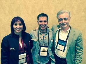 Simon with authors Eoin Colfer and Tammy Kaehler.
