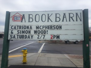 Simon's name up in lights.