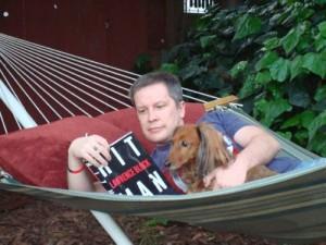Simon and Royston enjoying a good read.