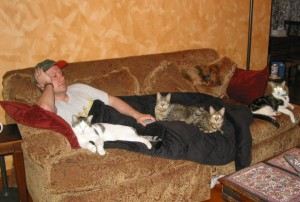 This is an illustration of what happens when you try to sleep in Simon's house.